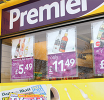 Headlinerlite Window Poster Holders for Premier Stores