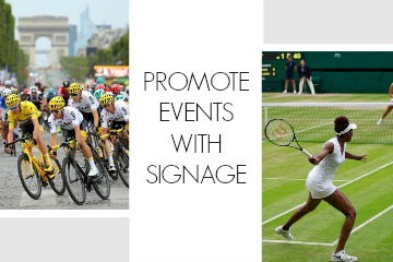 Promote Events with Signage - Events Calendar 2019