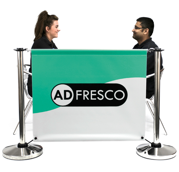 Adfresco Cafe Barrier with Lightblock PVC Banner