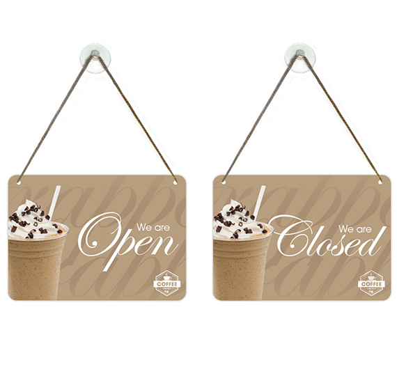 Flipper Open Closed Sign Coffee Shop