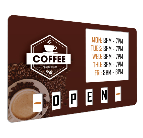 Premium Open Closed Sign for Coffee Shop