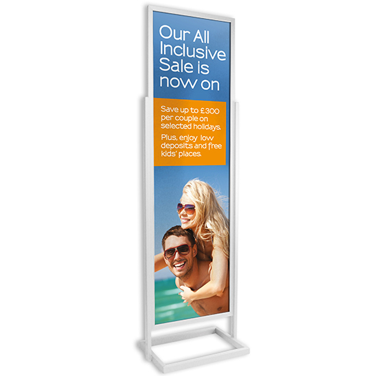 Silver Single Tier Poster Pillar