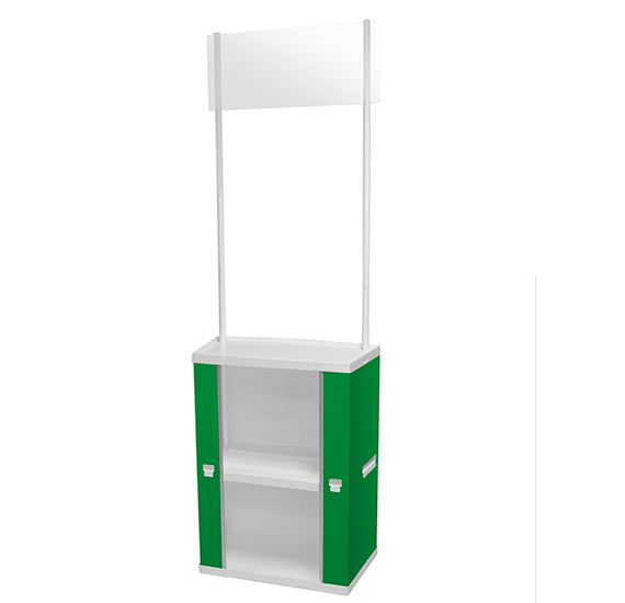 Promo Stand with Storage Shelves