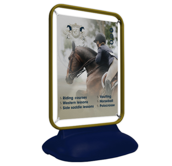 Horse Racing Sentinel Banner Custom Colour