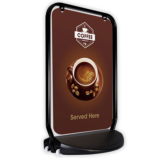 Swinger 4000 Black Frame Panel Coffee