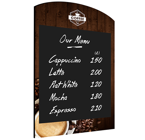 Wall Chalkboard Rounded Top Coffee