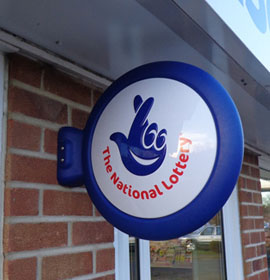 3D Projecting Sign - National Lottery