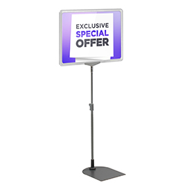 Clear A3 Short Landscape Showcard Stand