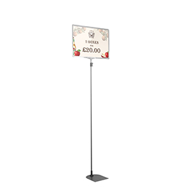Clear A3 Tall Landscape Showcard Stand