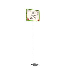 Green A3 Tall Landscape Showcard Stand