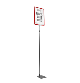 Red A3 Tall Portrait Showcard Stand