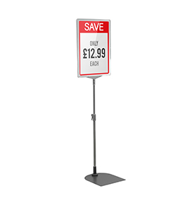 Clear A4 Short Portrait Showcard Stand