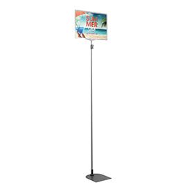 Clear A4 Tall Landscape Showcard Stand