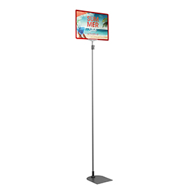Red A4 Tall Landscape Showcard Stand