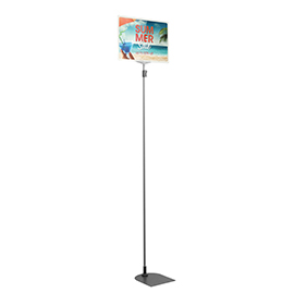 White A4 Tall Landscape Showcard Stand