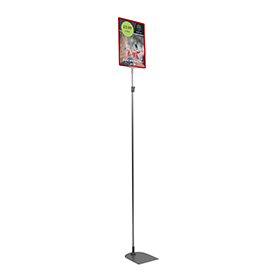 Red A4 Tall Portrait Showcard Stand