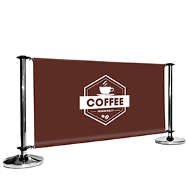 Adfresco Cafe Barrier Stainless Steel Coffee