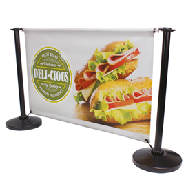 Adfresco Cafe Barrier System Black- Food Graphic