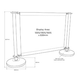 Diagram of Complete Adfresco Cafe Barrier System