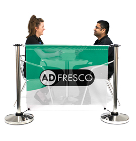 Adfresco Cafe Barrier with Mesh PVC Banner