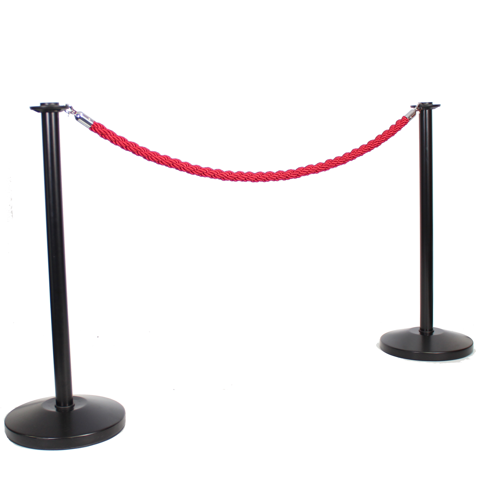 Adfresco Cafe Barrier Black Pole and Red Rope