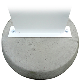 Defender Forecourt Sign Concrete Base