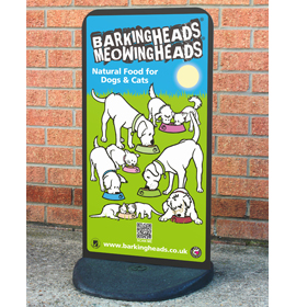 Ecoflexlite Pavement Sign- Barking Heads