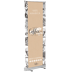 Eco Roll-Up Banner Coffee