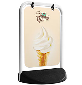 Eco Swinger White Frame Panel Ice Cream