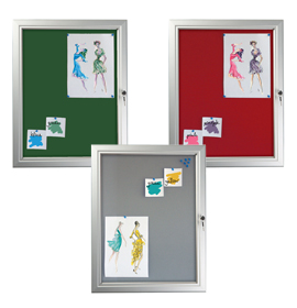 Green, Red and Grey Felt Showboards