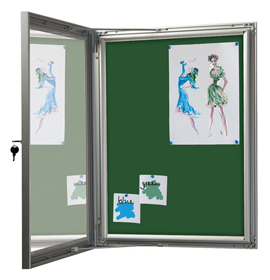 Green Felt Showboard with Open Door