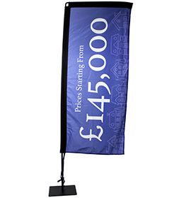 Durable Rectangle Flying Banner & Base Plate