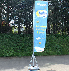 Giant Pole with Single Sided Print