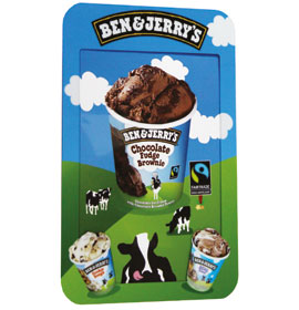 Headliner Poster Holder with Ben & Jerry's Artwork