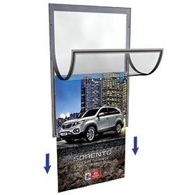 Hi-Sight Poster Frame with pull down cartridge