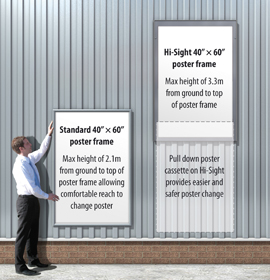Comparison of Hi-Sight and Normal Poster Frame