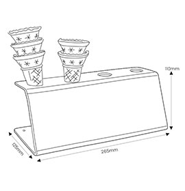 Diagram of Ice Cream Holder with Cones