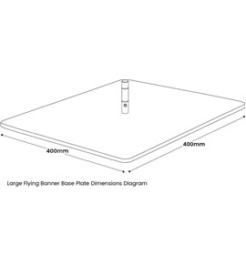 Large Flying Banner Base Plate Diagram