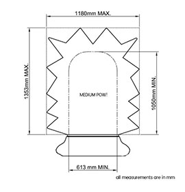 Diagram of Medium POW! Sign