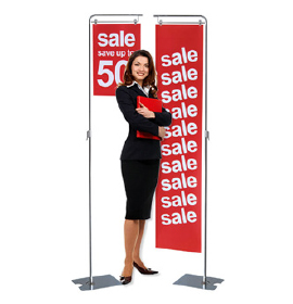 Metal Floor Display Stand with Variable Height Gra