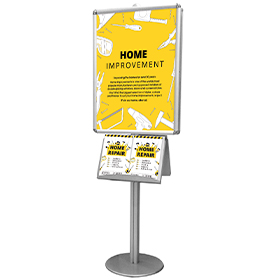 Modular Pole Display with Poster Frames