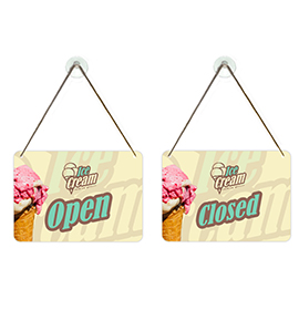Ice Cream Shop Open Closed Sign