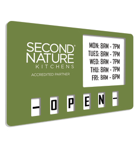 Second Nature Kitchens Premium Open Closed Sign