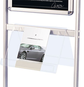 Info Board Acrylic Brochure Shelves
