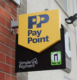 Projecting Sign - Paypoint