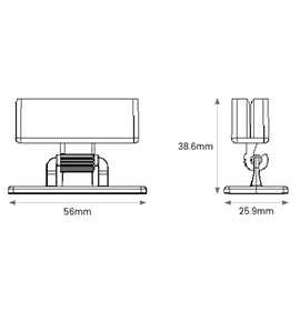 Pivot Gripper Showcard Holder Diagram