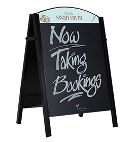Premier Chalk A-Board with Printed Header