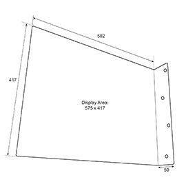 Diagram of Rectangle Flange Sign