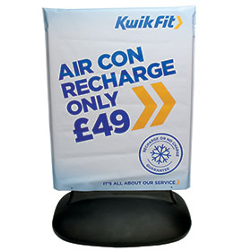 Fixed Mount Sign Cover with Kwik Fit Artwork