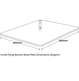 Small Flying Banner Base Plate Diagram